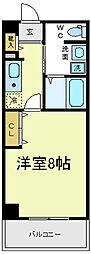 ビガーポリス118東田辺[6階]の間取り