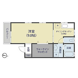埼玉県八潮市八條の賃貸アパートの間取り
