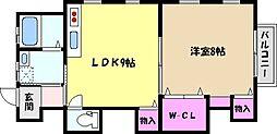 ドミール東芦屋[2階]の間取り