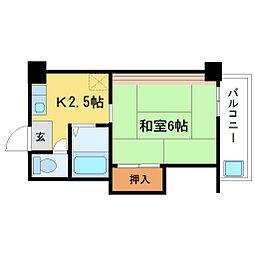 神崎川三和マンション[3階]の間取り