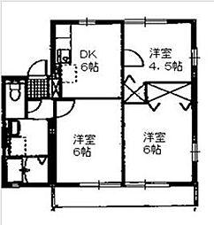 ローレルコートB[2階]の間取り