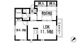 レジデンス松井[1階]の間取り