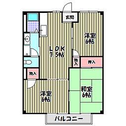 サンコーエイトA・B[1階]の間取り