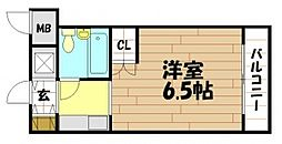 ロイヤルアーク八戸ノ里 御厨南3 八戸ノ里5分[3階]の間取り