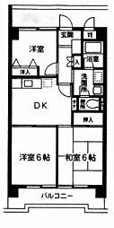 東京都世田谷区岡本1丁目の賃貸マンションの間取り