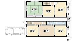 [一戸建] 大阪府摂津市鳥飼野々3丁目 の賃貸【/】の間取り