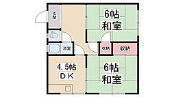 村井文化[102号室]の間取り