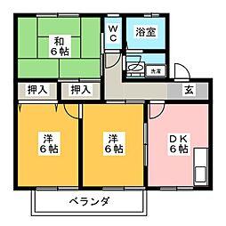 コンフォート橘[2階]の間取り