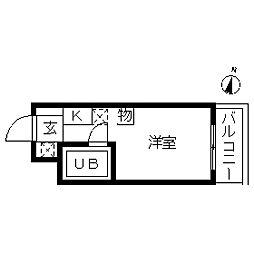 TOP・大森北第1[0103号室]の間取り