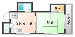 ミスズマンション[4階]の間取り