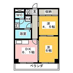 グリーンハウス吉[4階]の間取り