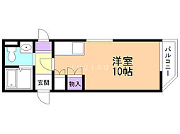 Maison花 ~メゾンハナ~ 3階1Kの間取り