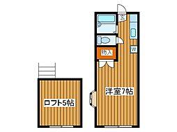 パインハイム[2階]の間取り