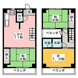 コーポ静岡二番町[3階]の間取り