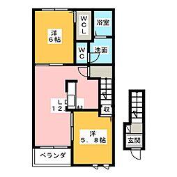 コスモスB[2階]の間取り