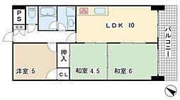 兵庫県神戸市長田区明泉寺町3丁目の賃貸マンションの間取り