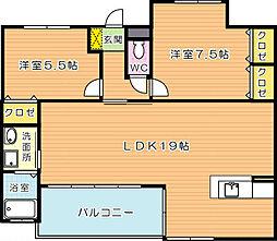 J5 Stage1(特定優良賃貸)[6階]の間取り