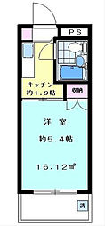 神奈川県横浜市西区戸部町4丁目の賃貸マンションの間取り