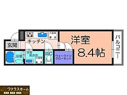 大阪府堺市堺区今池町2丁の賃貸アパートの間取り
