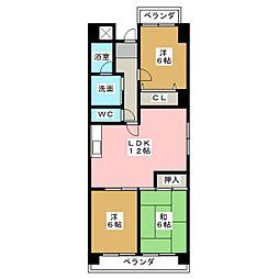 MKマンション神戸[4階]の間取り