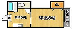 第二昭和ビル[407号室]の間取り