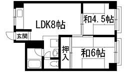 来田ビル[4階]の間取り