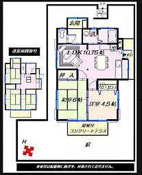 [一戸建] 神奈川県藤沢市鵠沼神明5丁目 の賃貸【/】の間取り