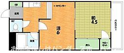 大阪府枚方市養父元町の賃貸マンションの間取り
