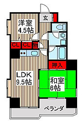 シェーンレーベン[5階]の間取り