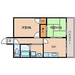 兵庫県尼崎市築地5丁目の賃貸マンションの間取り