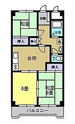 シャルマンビル[4階]の間取り