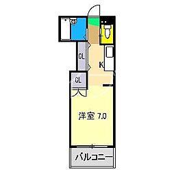 アサヒコート[1階]の間取り