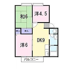 サンライフ海田[2階]の間取り