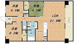ファインシティ大阪城公園[1階]の間取り