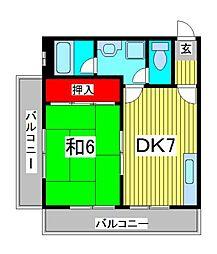 サンセット90[3階]の間取り