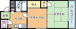 シャトレ別所[4階]の間取り