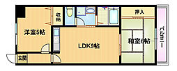 サニーパレス京橋[6階]の間取り