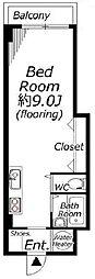 東京都品川区西品川3丁目の賃貸マンションの間取り