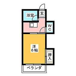 コーポ岡部[4階]の間取り