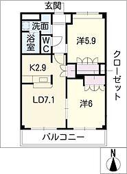 エマーブル五番館[1階]の間取り