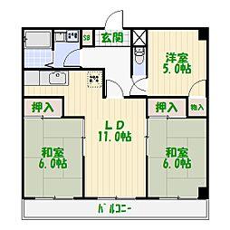東京都葛飾区水元4丁目の賃貸マンションの間取り