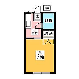 コーポ大野辻[2階]の間取り
