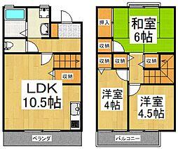 [タウンハウス] 東京都清瀬市中清戸5丁目 の賃貸【/】の間取り