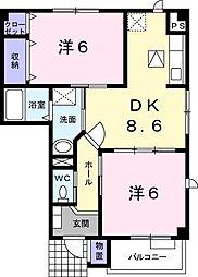 アヴニール・宮島(川中島町四ツ屋) A棟[103号室号室]の間取り