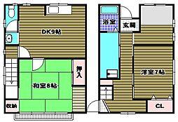 [一戸建] 大阪府河内長野市松ケ丘中町 の賃貸【/】の間取り