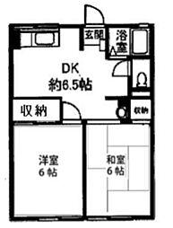 シティハイムハウスM3[202号室]の間取り