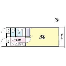 クレスパット町田[4階]の間取り