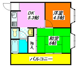 コーポ・ハピネス 105号室[1階]の間取り