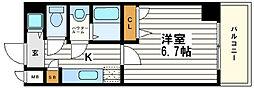 シャルマンフジ大阪城南[5階]の間取り