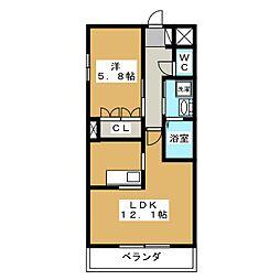 ルル フルーレ[3階]の間取り